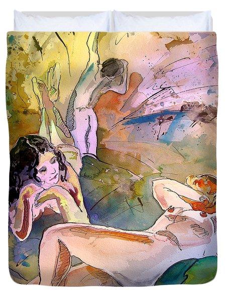Eroscape 1201 Duvet Cover by Miki De Goodaboom