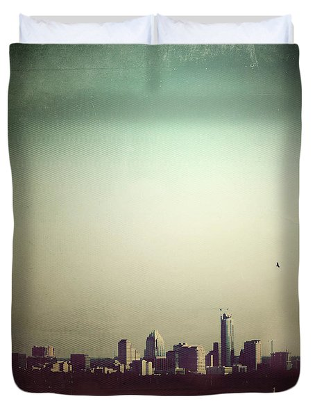 Escaping the City Duvet Cover by Trish Mistric