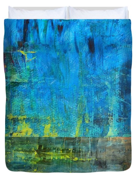 Essence of Blue Duvet Cover by Michelle Calkins