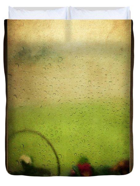 Et Peu A Peu Les Flots Respiraient Comme On Pleure Duvet Cover by Taylan Soyturk