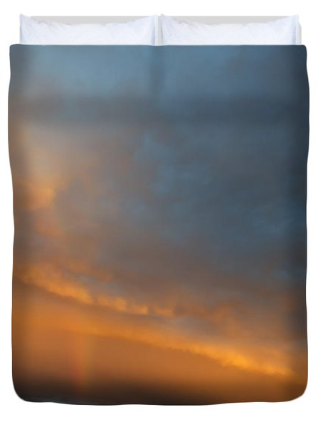 Ethereal Clouds and Rainbow Duvet Cover by Greg Reed