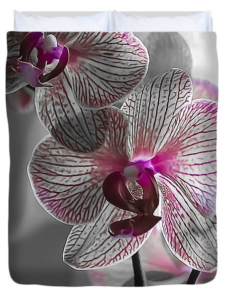 Ethereal Orchid Duvet Cover by Bianca Nadeau