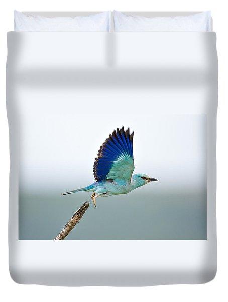 Eurasian Roller Duvet Cover by Johan Swanepoel