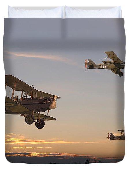 Evening Flight Duvet Cover by Pat Speirs