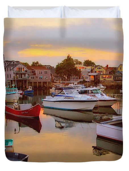 Evening In Rockport Duvet Cover by Joann Vitali