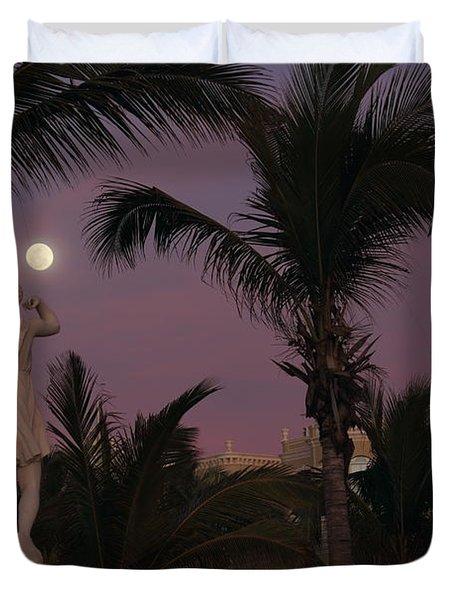 Evening Moon Duvet Cover by Shane Bechler