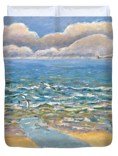 Evening North Myrtle Beach Duvet Cover by Patricia Eyre