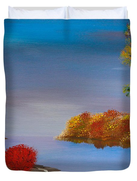 Evening On The Last Sunny Day Duvet Cover by Alys Caviness-Gober
