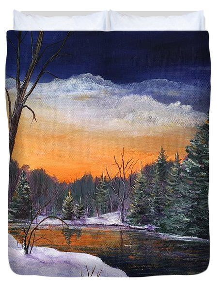 Evening Reflection Duvet Cover by Anastasiya Malakhova