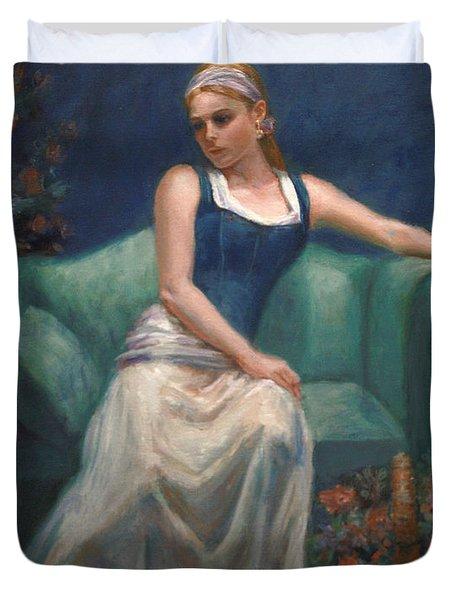 Evening Repose Duvet Cover by Sarah Parks