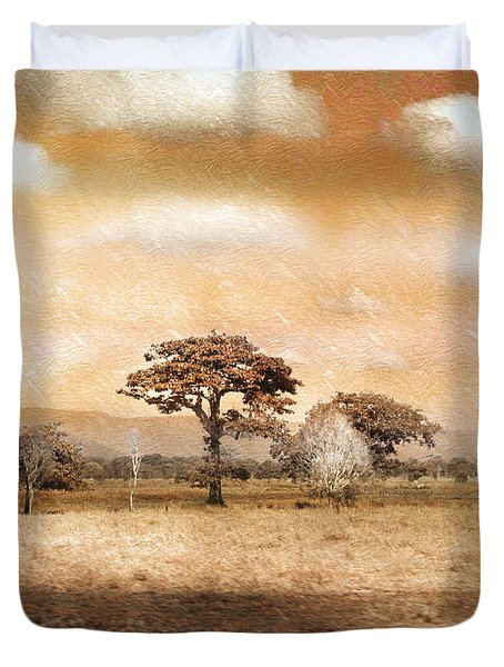 Evening Showers Duvet Cover by Holly Kempe