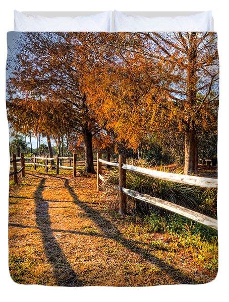 Evening Walk Duvet Cover by Debra and Dave Vanderlaan