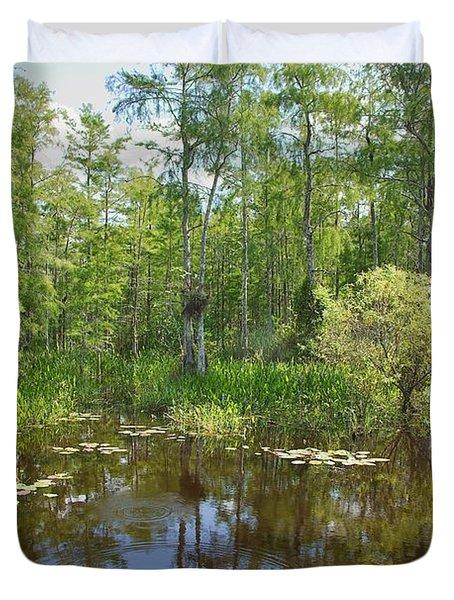 Everglades Lake Duvet Cover by Rudy Umans