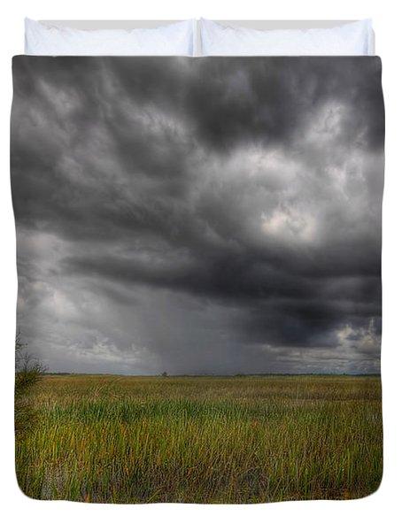 Everglades Storm Duvet Cover by Rudy Umans