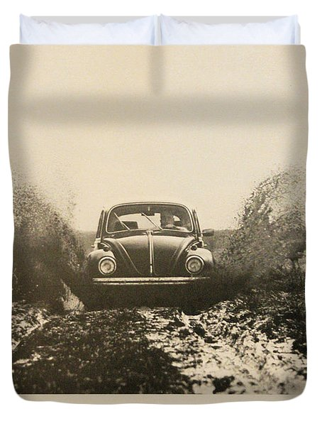 Every New One Comes Slightly Used - Vintage Volkswagen Advert Duvet Cover by Nomad Art And  Design