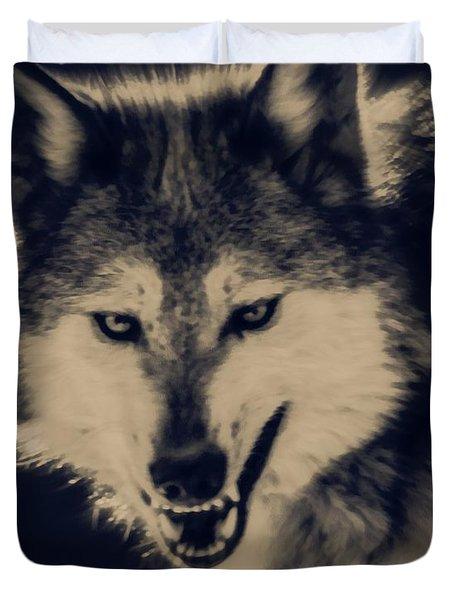 Evil Wolf Duvet Cover by Ernie Echols