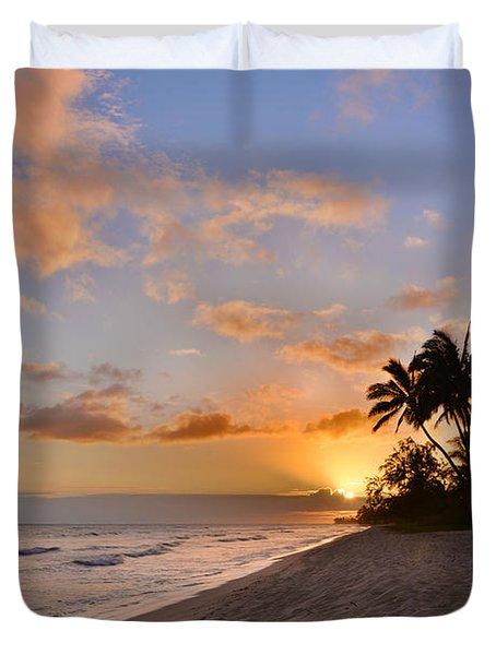 Ewa Beach Sunset 2 - Oahu Hawaii Duvet Cover by Brian Harig
