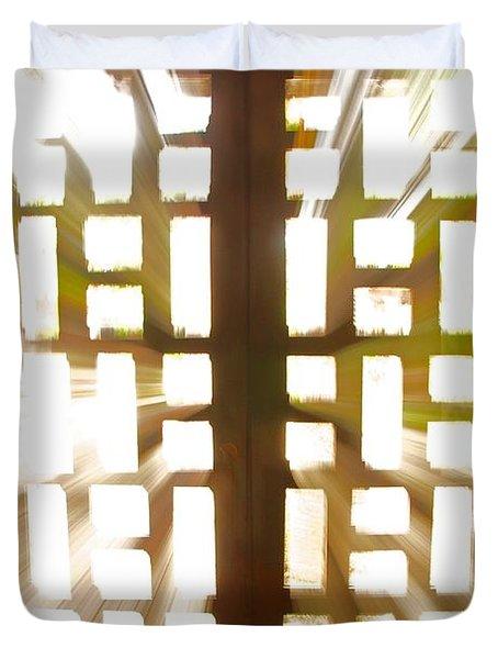Exit Doors Duvet Cover by Stuart Litoff