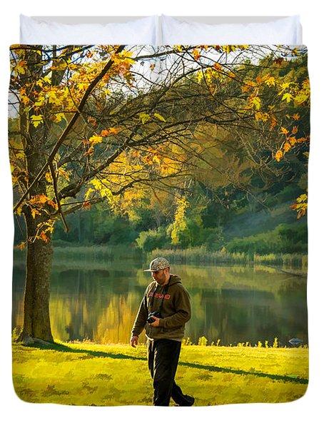 Exploring Autumn Light Duvet Cover by Steve Harrington