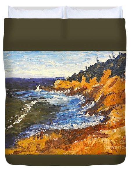 Exploring On The Rocks  Duvet Cover by Pamela  Meredith