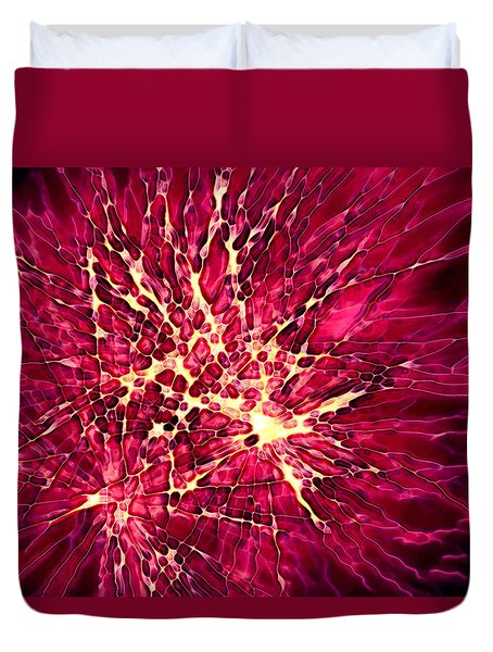 Explosion Duvet Cover by Stephanie Hollingsworth