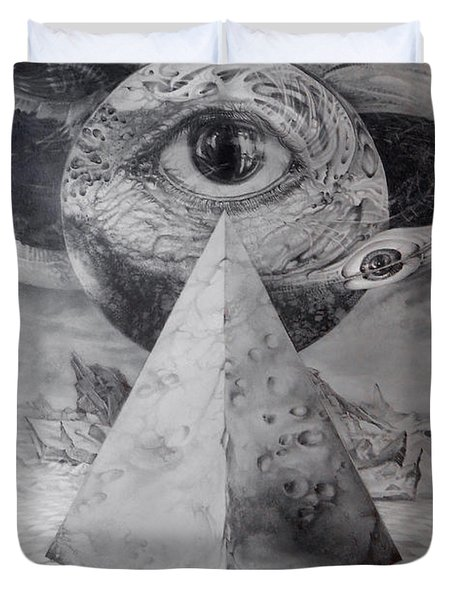 Eye Of The Dark Star - Journey Through The Wormhole Duvet Cover by Otto Rapp