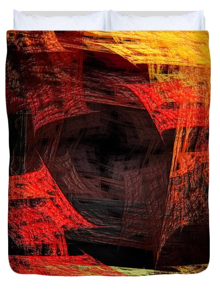 Eye Of The Storm 2 - Blown Away - Abstract - Fractal Art Duvet Cover by Andee Design