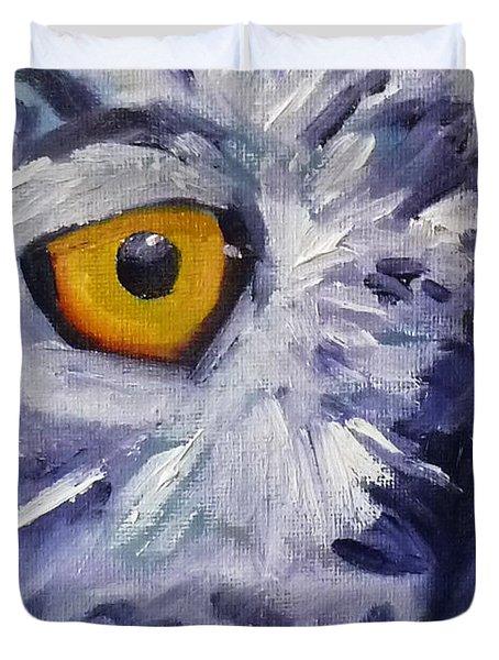 Eye On You Duvet Cover by Nancy Merkle