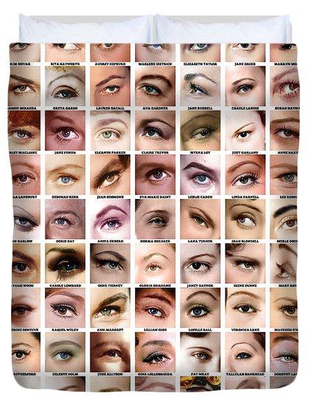 Eyes Of Hollywood - Old Era Duvet Cover by Taylan Soyturk