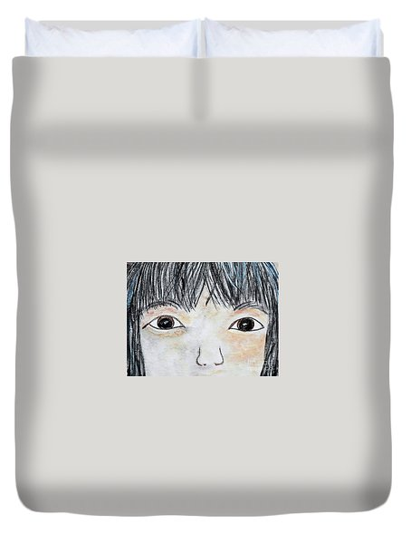 Eyes of Love Duvet Cover by Eloise Schneider