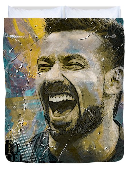 Ezequiel Lavezzi Duvet Cover by Corporate Art Task Force