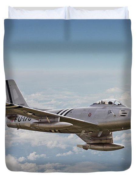 F86 Sabre Duvet Cover by Pat Speirs