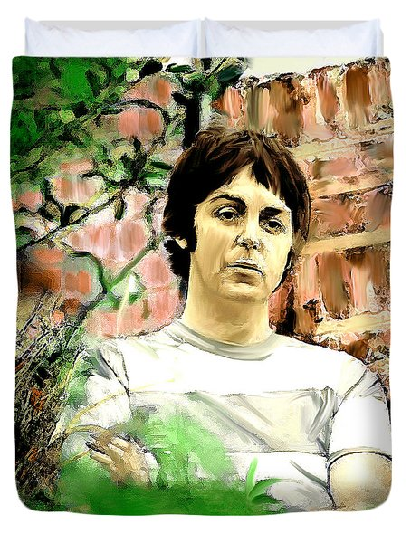 Fab  Paul McCartney  Duvet Cover by Iconic Images Art Gallery David Pucciarelli