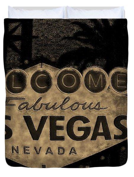 Fabulost Vegas Spelling Correct Duvet Cover by John Malone