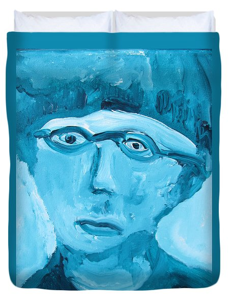 Face One Duvet Cover by Shea Holliman