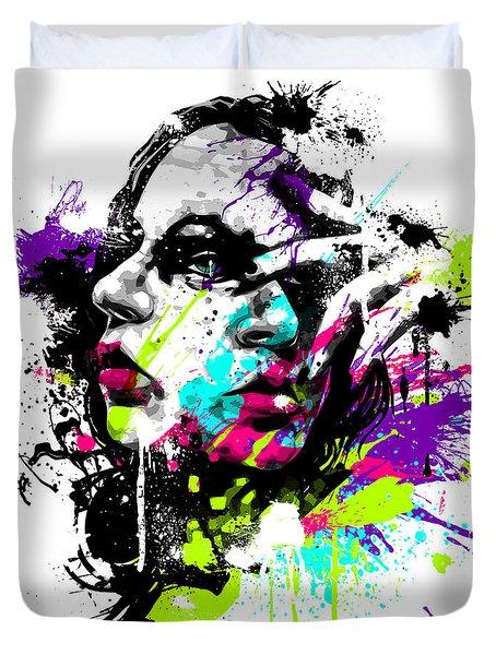 Face Paint 1 Duvet Cover by Jeremy Scott