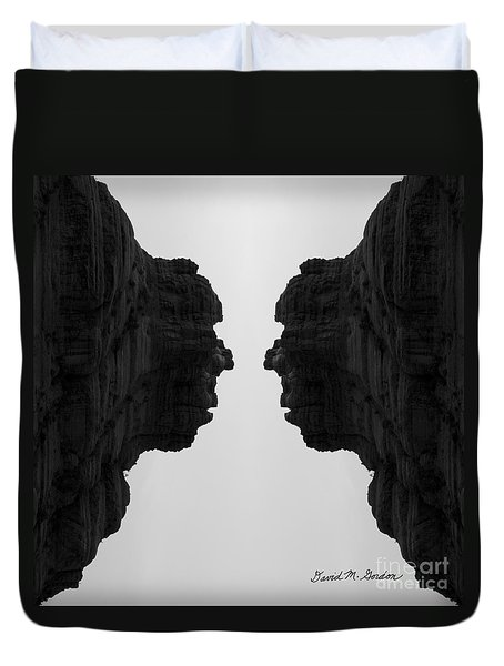 Face To Face Montage II Duvet Cover by Dave Gordon