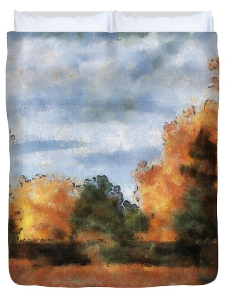 Fading Out Duvet Cover by Ayse Deniz