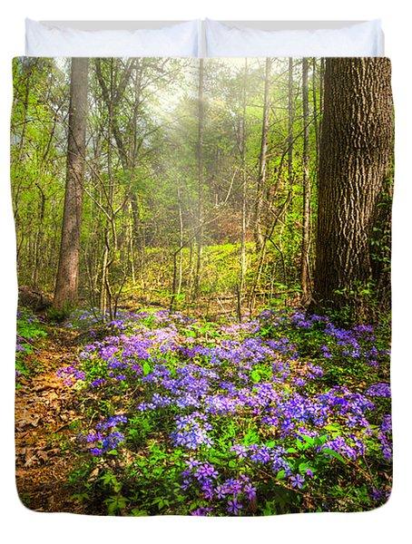 Fairies Forest Duvet Cover by Debra and Dave Vanderlaan
