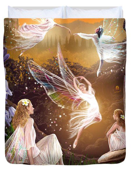 Fairy Ballet Duvet Cover by Garry Walton