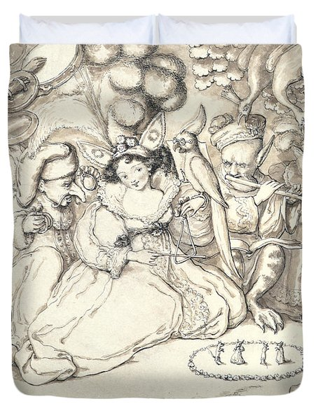 Fairy Concert, C.1830 Duvet Cover by Charles Kirkpatrick Sharpe