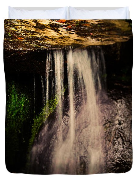 Fairy Falls Duvet Cover by Loriental Photography