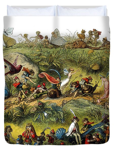Fairy Procession Duvet Cover by Photo Researchers