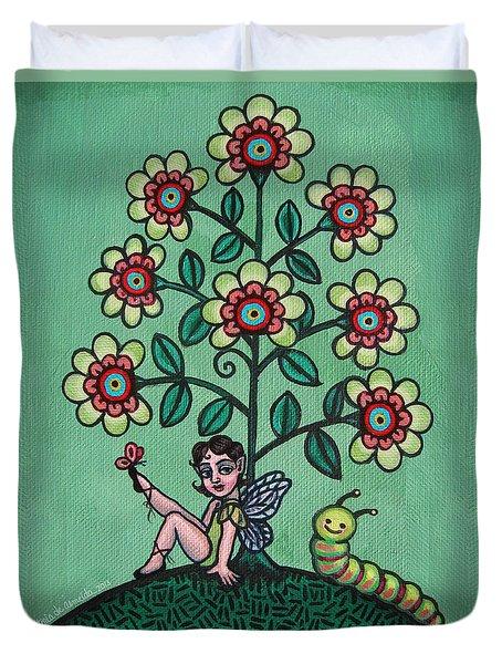Fairy Series Katrina Duvet Cover by Victoria De Almeida