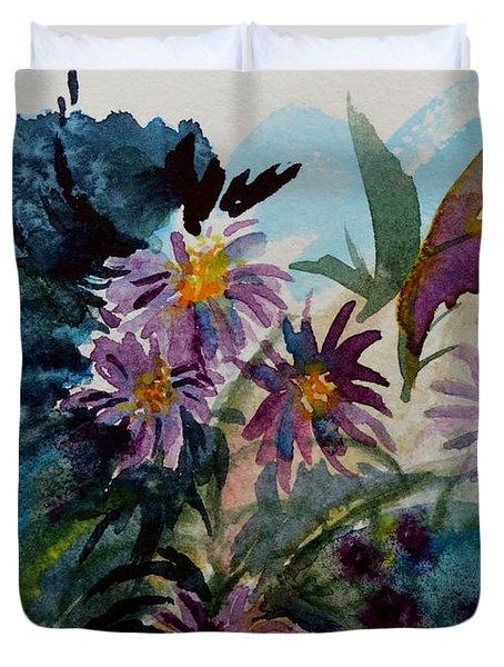 Fairyland Asters Duvet Cover by Beverley Harper Tinsley
