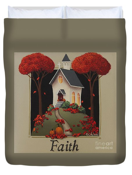 Faith Country Church Duvet Cover by Catherine Holman