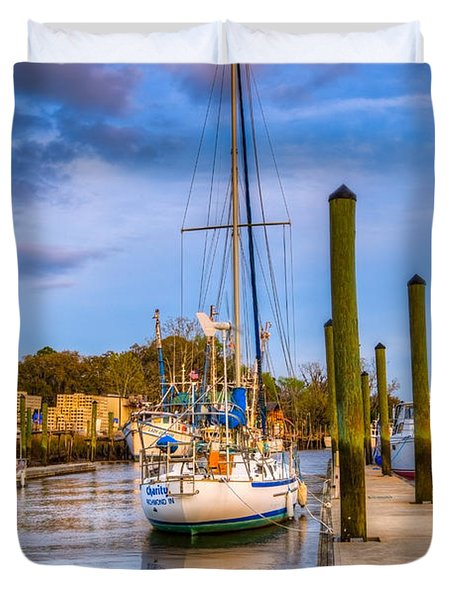 Faith Hope And Charity Duvet Cover by Debra and Dave Vanderlaan