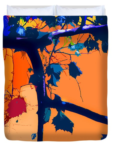Fall Abstraction 5-2013 Duvet Cover by John Lautermilch