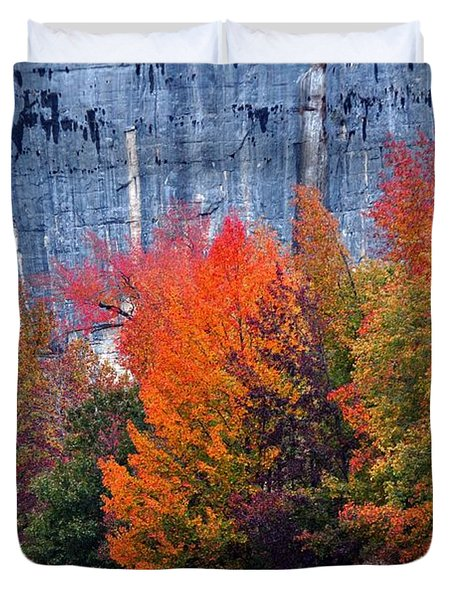 Fall At Steele Creek Duvet Cover by Marty Koch