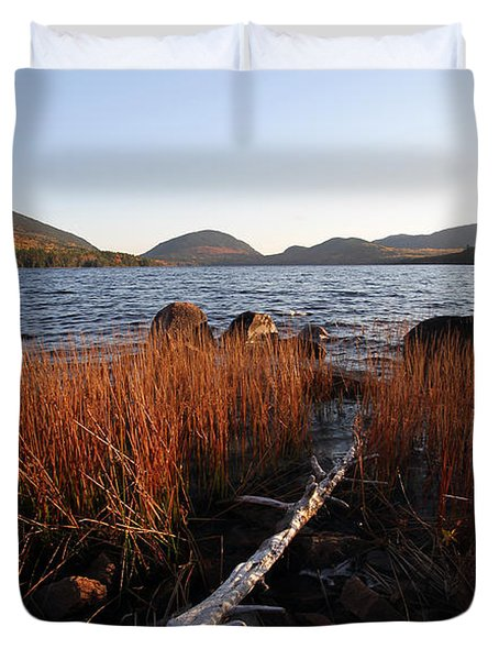 Fall Colors at Eagle Lake in Maine Duvet Cover by Juergen Roth